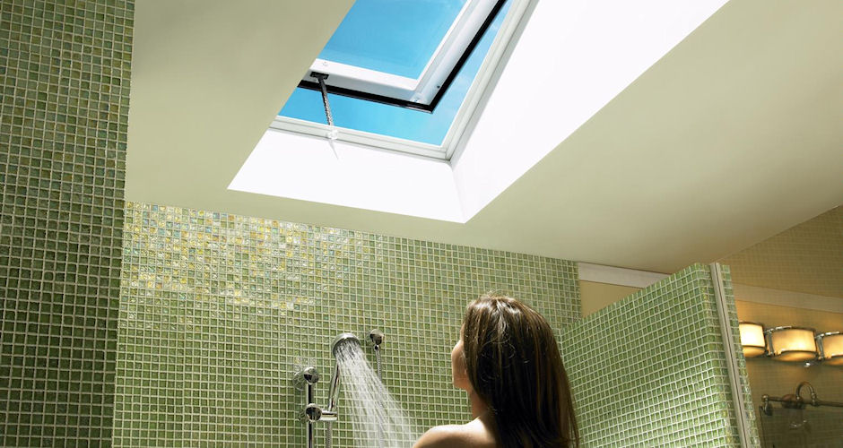 Venting Skylight - Lady Shower Green