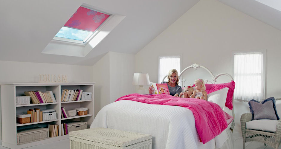 Skylight Bedroom Lady Child - Pink