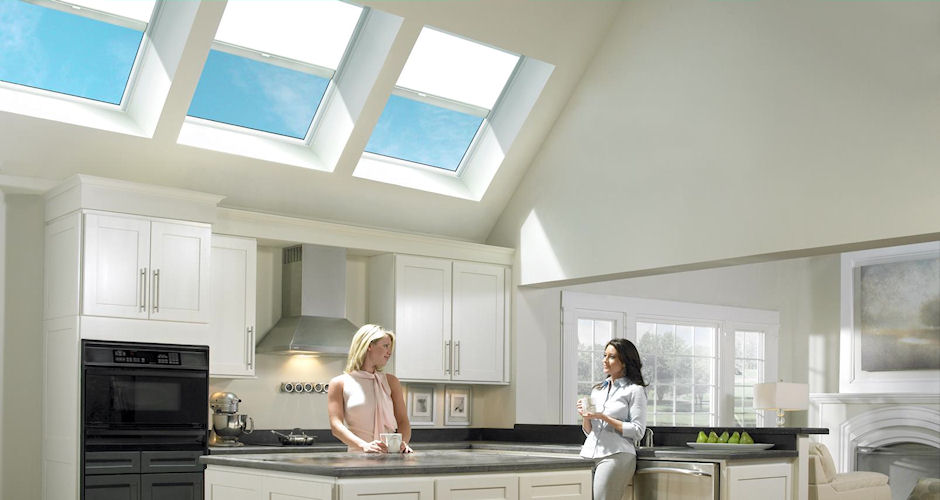 Skylights Shades White Kitchen Ladies
