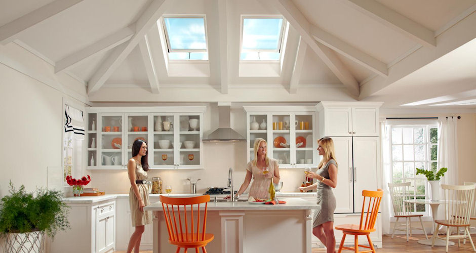 Skylights Kitchen Ladies Orange