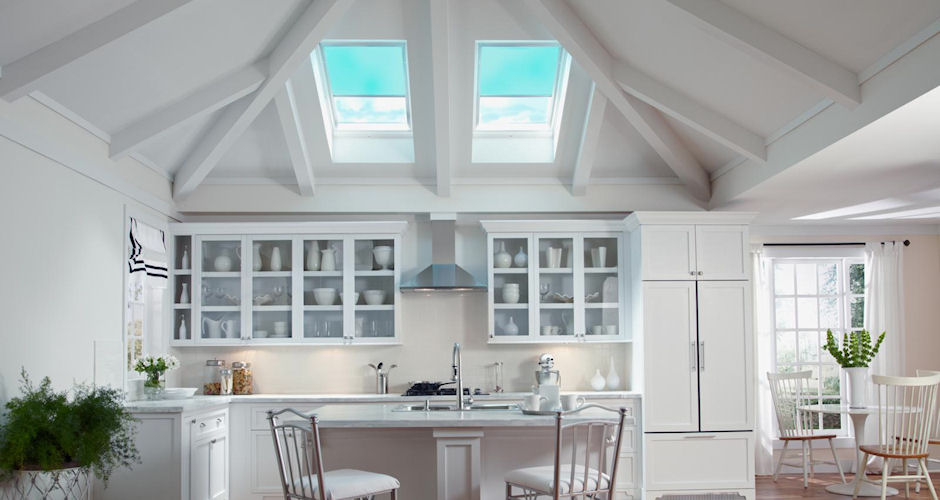 Skylights Kitchen Blue