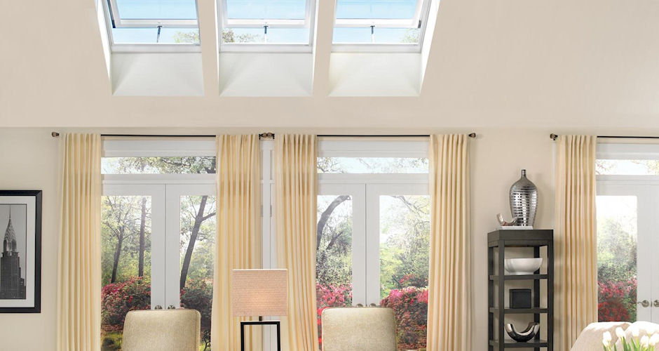 Fresh Air Skylights Living Room